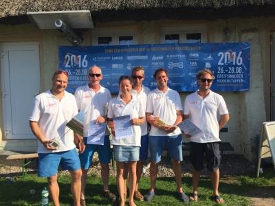 Boddenetappen 2016: Rolf, Ralf, Mirja, Micha, Gunther, Sebastian